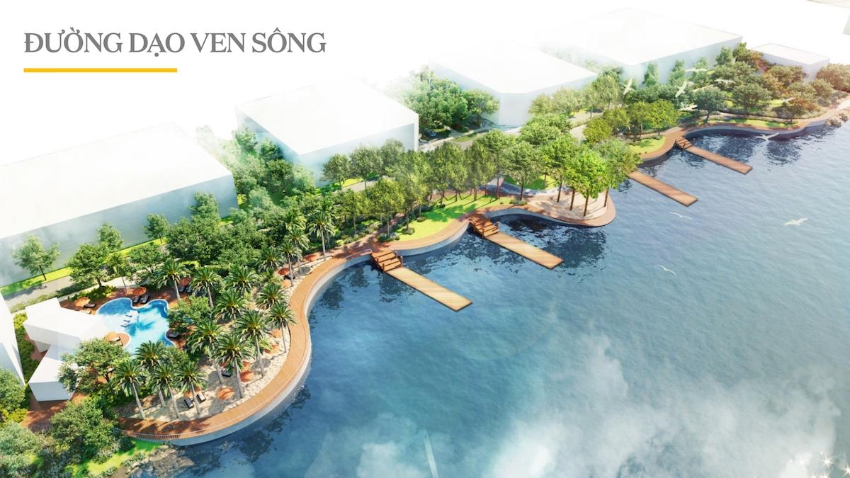 Đường dạo ven sông Aqua City