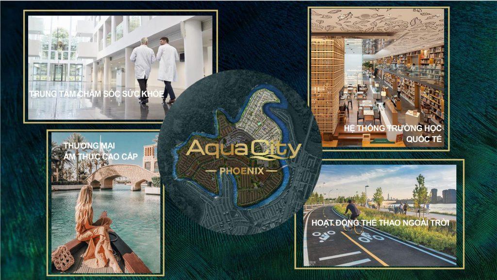 Tiện ích Đảo Phượng Hoàng - Khu đô thị Aqua City Novaland