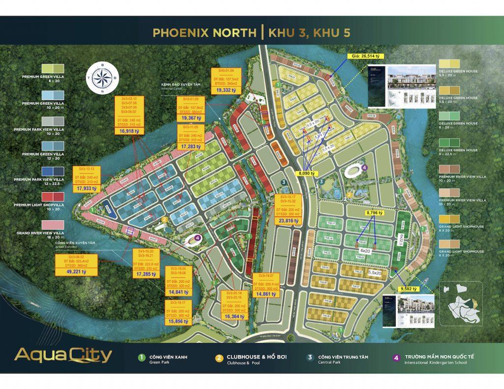 Bảng giá tổng hợp Aqua City - Đảo Phượng Hoàng 05.2021