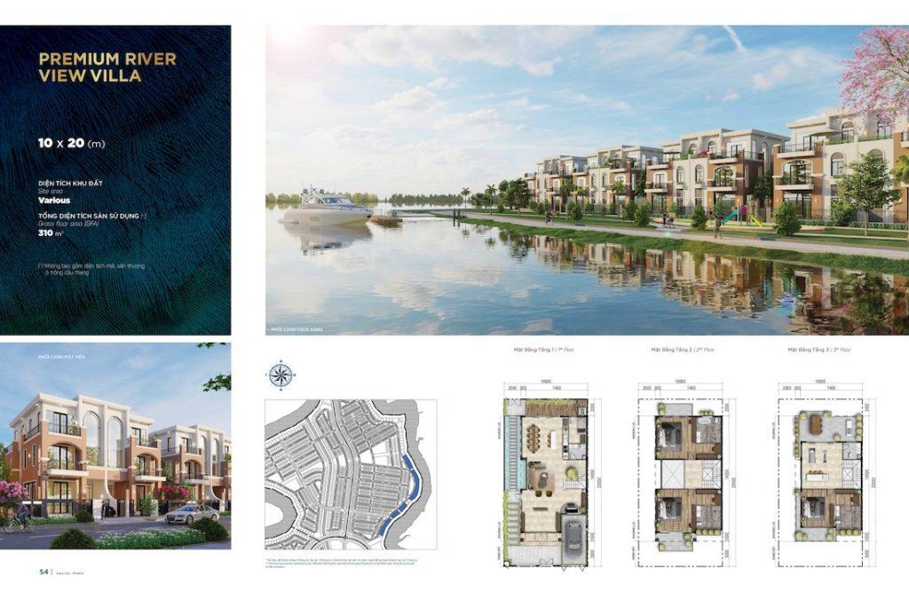 Biệt thự Aqua City - Đảo Phượng Hoàng North - Song Lập 10X20 v2