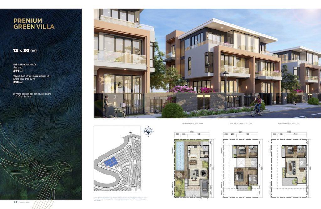 Biệt thự Aqua City - Đảo Phượng Hoàng North - Song Lập 12X20