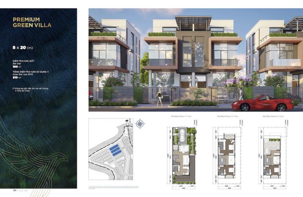 Biệt thự Aqua City - Đảo Phượng Hoàng North - Song Lập 8X20