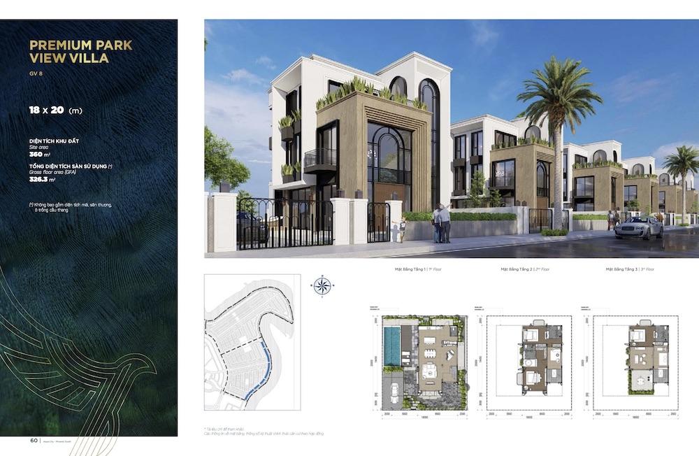 Biệt thự Aqua City - Đảo Phượng Hoàng South - Đơn Lập 18X20