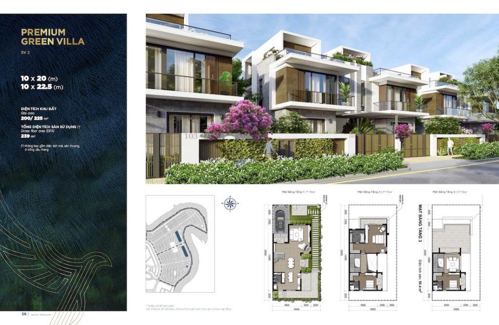 Biệt thự Aqua City - Đảo Phượng Hoàng South - Song Lập 10X20 22.5