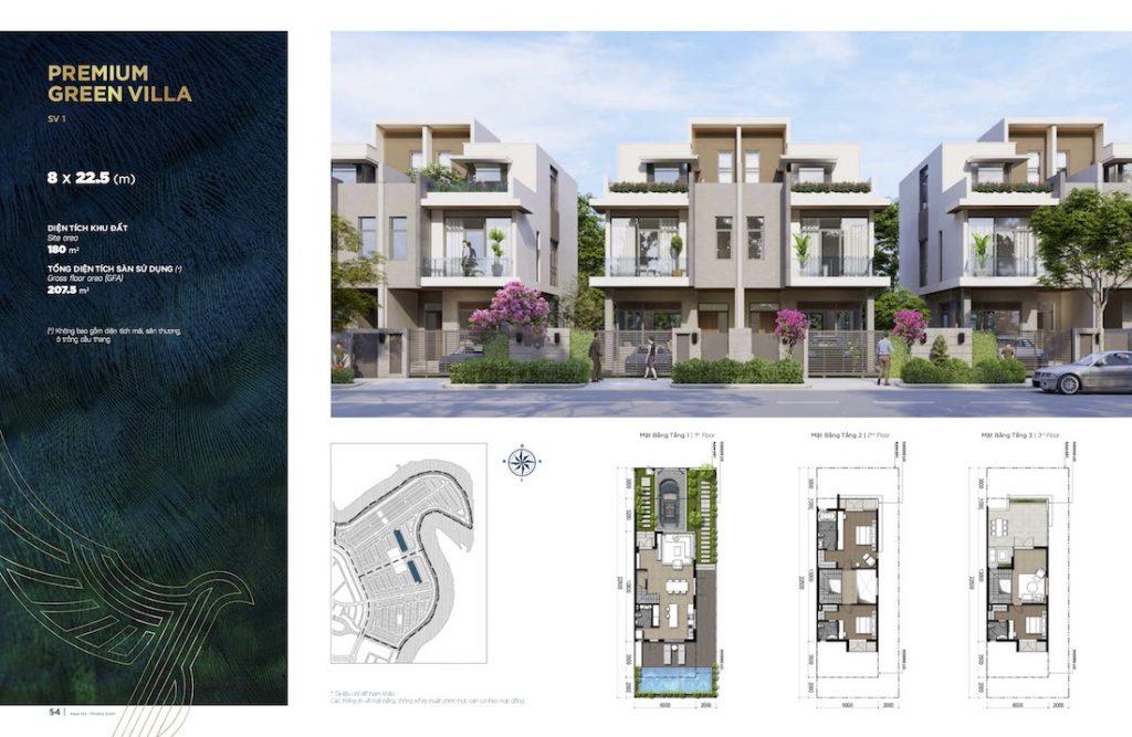 Biệt thự Aqua City - Đảo Phượng Hoàng South - Song Lập 8x22.5