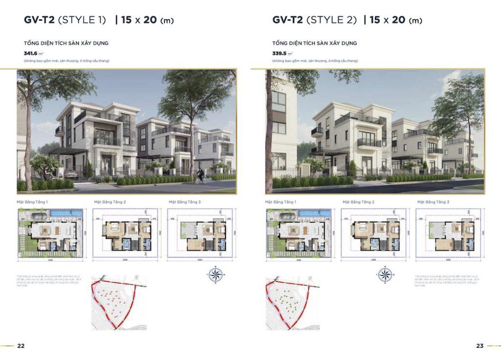 Biệt thự Aqua City - The Grand Villas - Đơn Lập 15X20