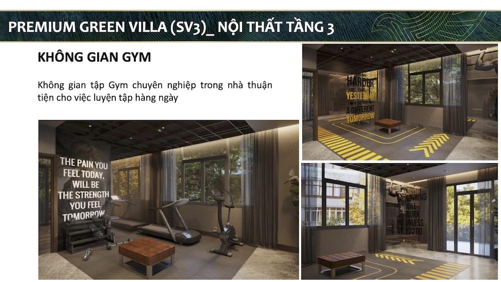 Không gian gym - Biệt thự mẫu Aqua City - Đảo Phượng Hoàng