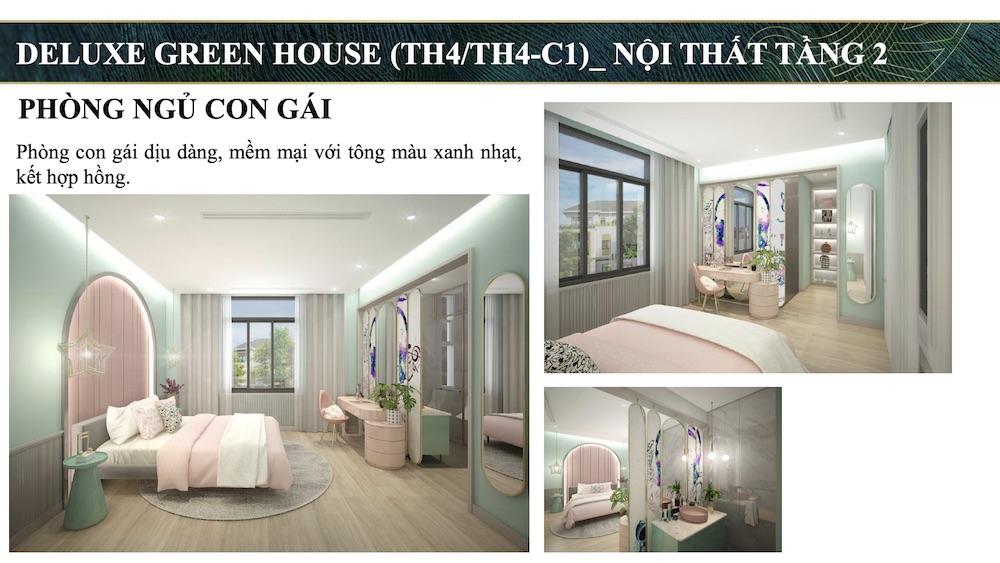 Nhà Mẫu Aquacity 7x20 Đảo Phượng Hoàng - Phòng ngủ con gái