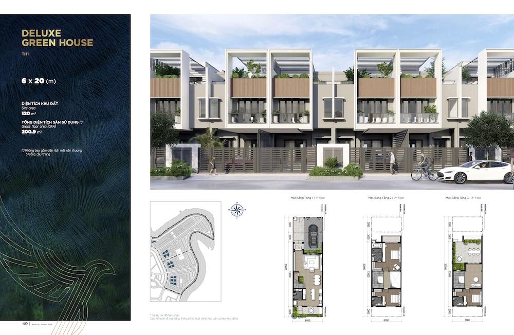 Nhà Phố Aqua City - Phoenix South - 6x20