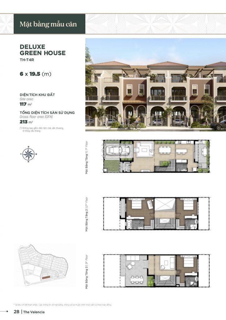 Nhà Phố Aqua City - The Valencia - 6x19.5m