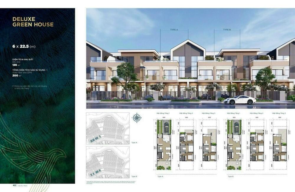 Nhà phố 6x22.5 Aqua City - Đảo Phượng Hoàng
