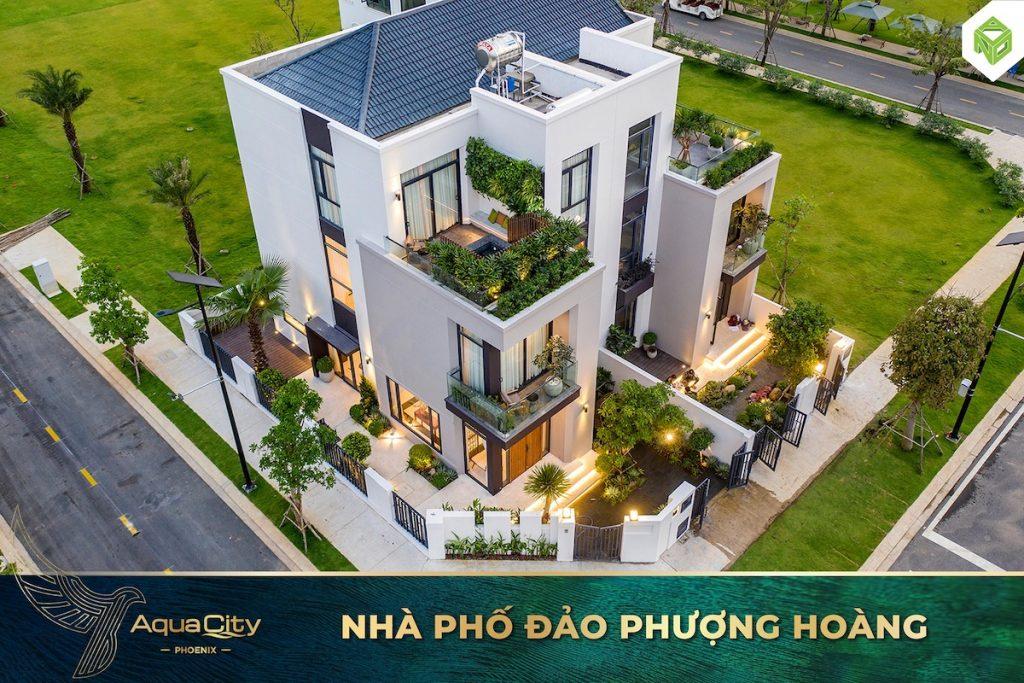 Nhà phố mẫu 7x20 Đảo Phượng Hoàng - Aqua City