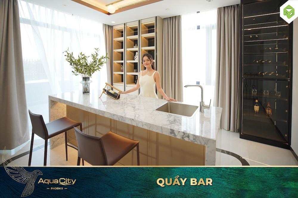 Nhà phố mẫu 7x20 Aqua City - Đảo Phượng Hoàng - Bar