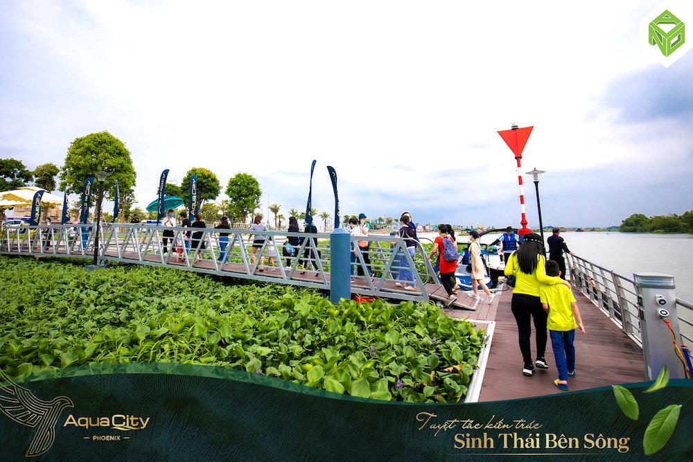 Tham quan nhà mẫu Đảo Phượng Hoàng - Aqua City đường sông