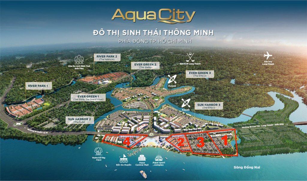 Aqua Marina - Vị trí các phân khu